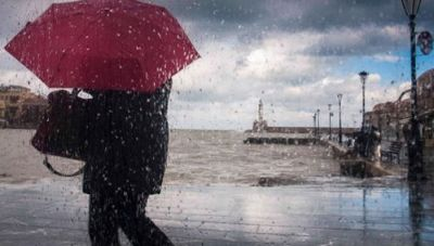 Μεγάλα ύψη βροχής στη δυτική Κρήτη