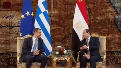 Τον Πρόεδρο της Αιγύπτου υποδέχεται ο Κυριάκος Μητσοτάκης