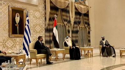 Στα Ηνωμένα Αραβικά Εμιράτα ο Μητσοτάκης- Συνεργασία στην Άμυνα και την Εξωτερική Πολτική