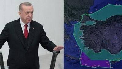 Τουρκική προκλητικότητα: Παρουσιάζουν νέο χάρτη με το μισό Αιγαίο στην Τουρκία