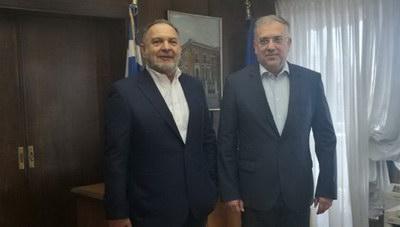 Συνεργασία του Προέδρου της ΠΕΔ Κρήτης με τον Υπουργό Εσωτερικών