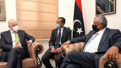 Συνάντηση Δένδια με τον αναπληρωτή πρωθυπουργό της Λιβύης