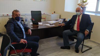 Συνάντηση Σωκράτη Βαρδάκη με τον Πρύτανη και Αντιπρύτανη του Πανεπιστημίου Κρήτης