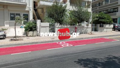 Ηράκλειο: Εβαψαν κόκκινες τις στάσεις των λεωφορείων, προκαλώντας απορίες και... παράπονα