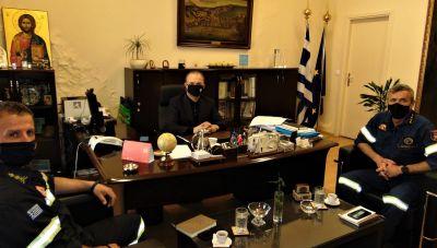 Ρέθυμνo: Τον νέο Διοικητή της Πυροσβεστικής υποδέχτηκε ο Δήμαρχος