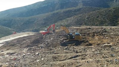 Αποκατάσταση της παράνομης χωματερής στον Πελεκάνο (φωτογραφίες)