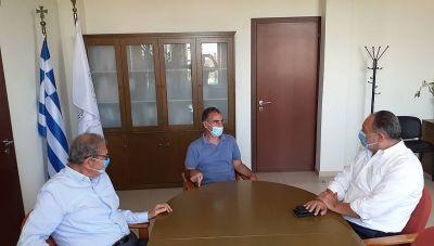 Συνάντηση Γιάννη Κουράκη με τον Πρύτανη του ΕΛΜΕΠΑ Νίκο Κατσαράκη