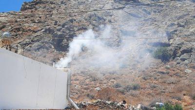 Κρήτη: Έσβησαν την φωτιά με... το λάστιχο
