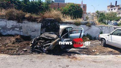 Ηράκλειο: Παρανάλωμα του πυρός ένα αυτοκίνητο που έγινε... κάρβουνο (φωτογραφίες)