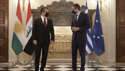 Συνάντηση Μητσοτάκη με τον πρωθυπουργό του Ιρακινού Κουρδιστάν