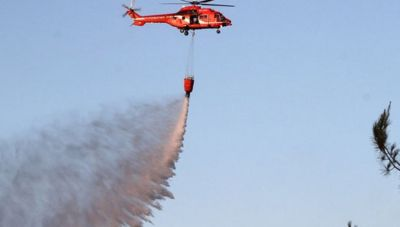 Πύρινη λαίλαπα στις Γούβες- Μεγάλη κινητοποίηση της Πυροσβεστικής