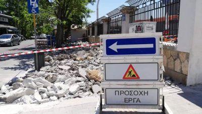 Παρεμβάσεις στα πεζοδρόμια από το Δήμο Χανίων