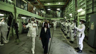 Η Πρόεδρος της Δημοκρατίας επιθεώρησε το Στόλο στο Σαρωνικό Κόλπο