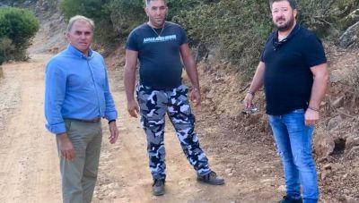 Δήμος Ιεράπετρας: Επιθεώρηση των έργων στη Θρύπτη από τον Δήμαρχο