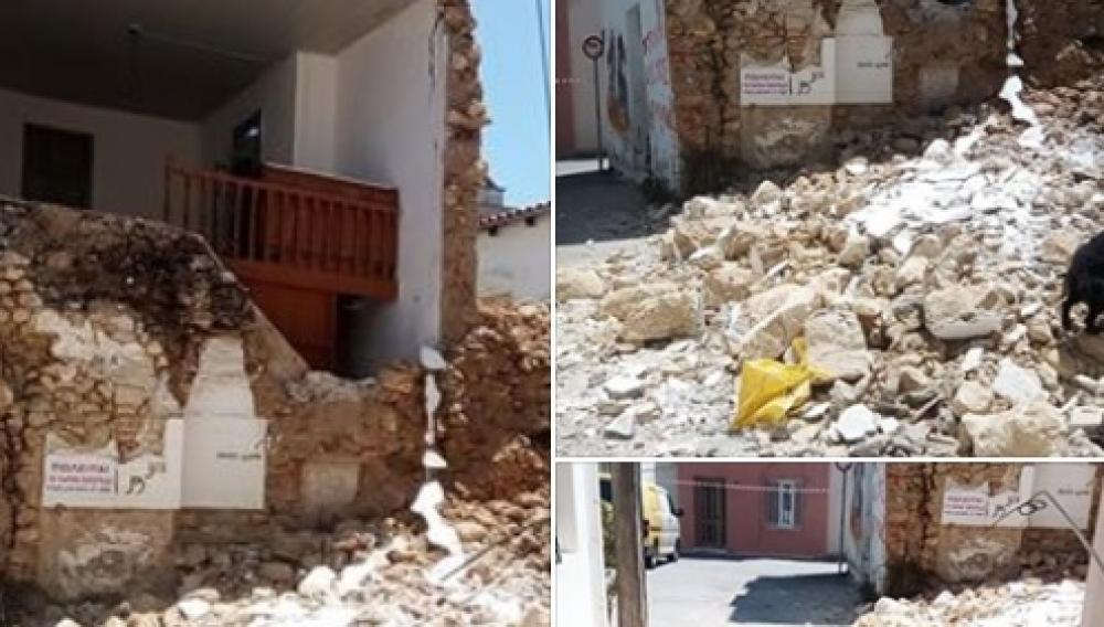 Ηράκλειο: Κραυγή αγωνίας μετά την κατάρρευση του σπιτιού