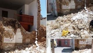 Κατέρρευσε σπίτι στο Ηράκλειο: Από θαύμα δε θρηνήσαμε θύματα (φωτογραφίες)