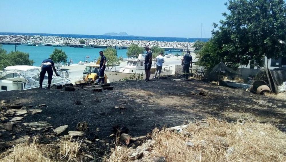 Κρήτη: Μια φωτιά αναστάτωσε το λιμανάκι
