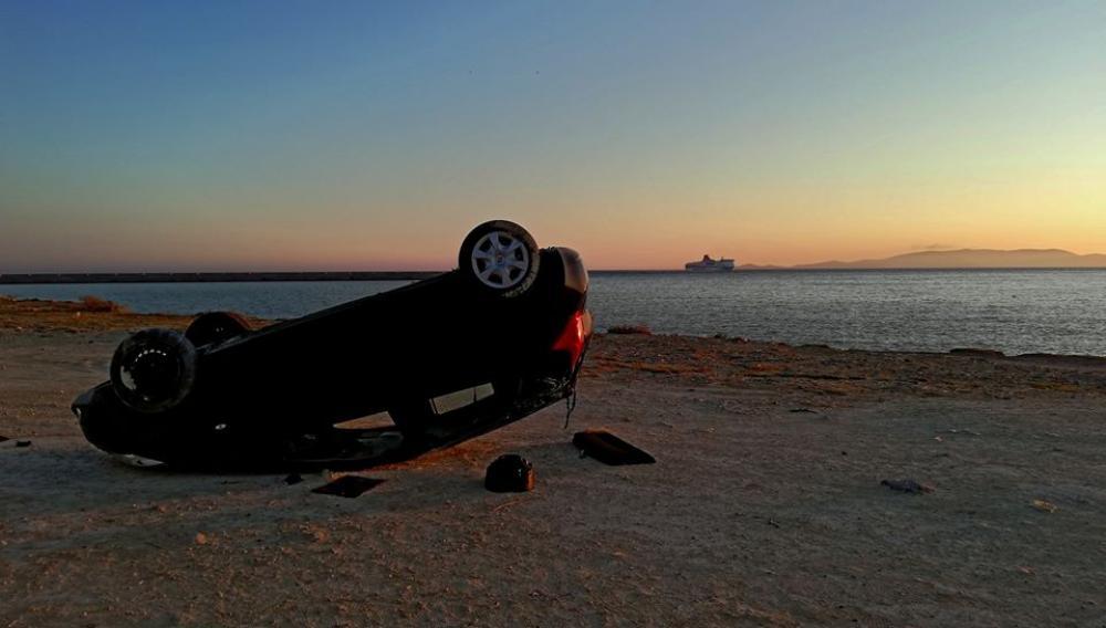 Και άλλο τουμπαρισμένο αυτοκίνητο στο Ηράκλειο... (φωτογραφίες)