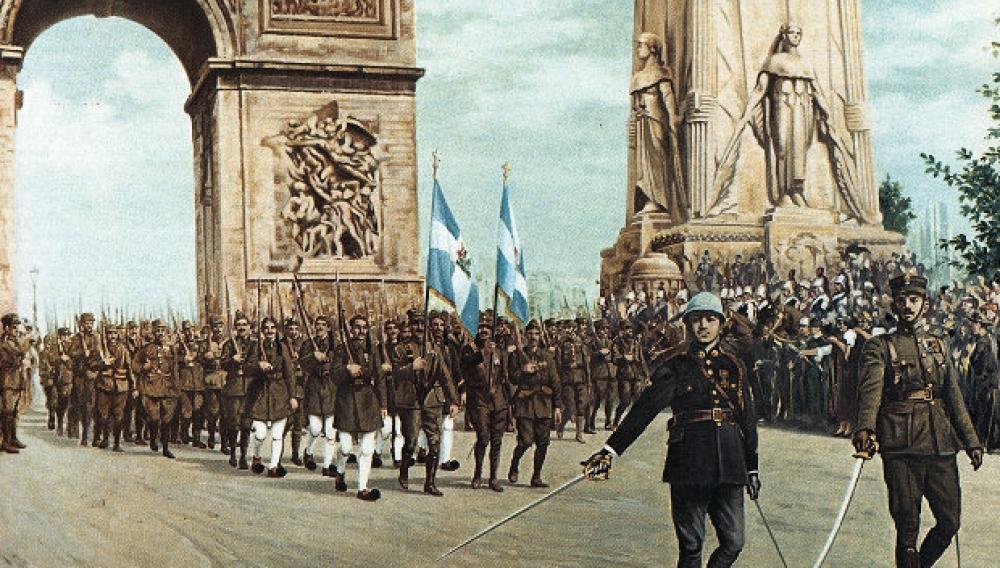 Όταν ο ελληνικός στρατός  παρέλασε στο... Παρίσι (βιντεο)