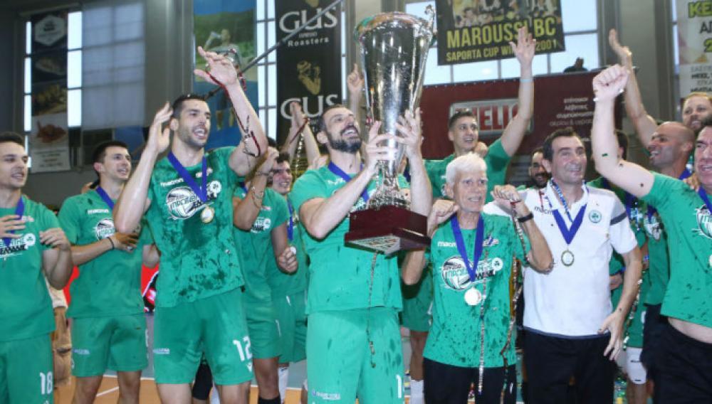 Βόλεϊ: Πρωταθλητής Ελλάδος ο Παναθηναϊκός