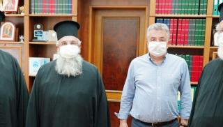 Συνάντηση Περιφερειάρχη Κρήτης με τους Μητροπολίτες Αρκαλοχωρίου-Καστελίου-Βιάνου και Ρεθύμνης-  Αυλοποτάμου