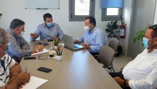 Επίσκεψη Κεγκέρογλου στο Δημαρχείο Χερσονήσου