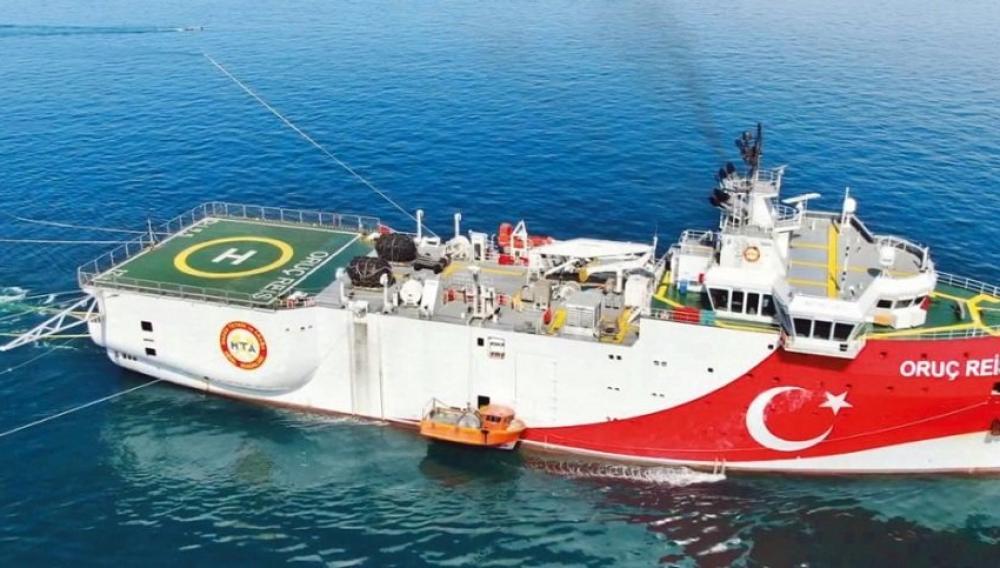 Εξήλθε το τουρκικο σκάφος Ουρούτς Ρέις από την ελληνική υφαλοκρηπίδα