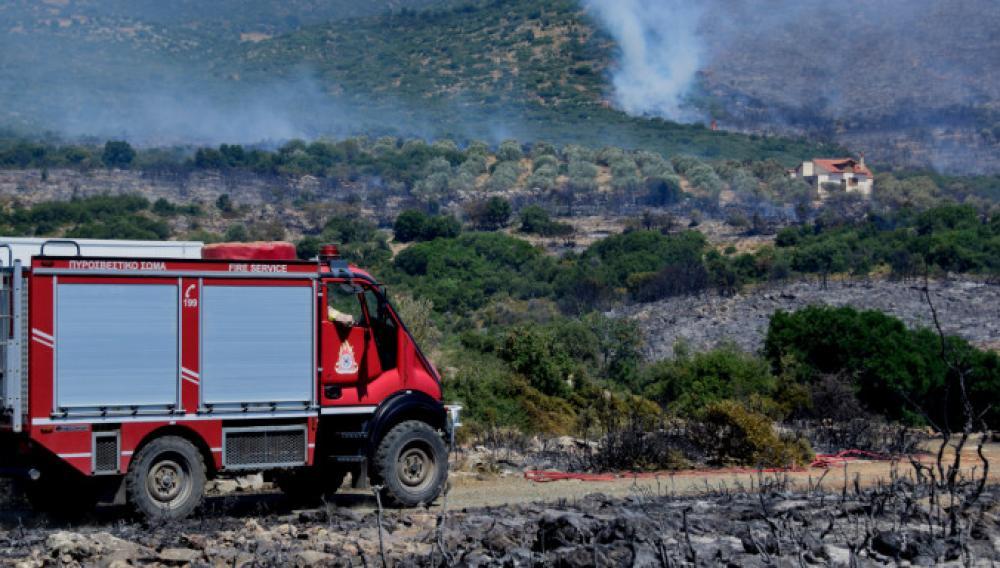 Yψηλός o κίνδυνος πυρκαγιάς και σήμερα