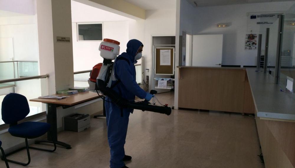 Απολύμανση στο Δημαρχείο Γόρτυνας, στα κτίρια των Δημοτικών Ενοτήτων και σε ιατρικές δομές