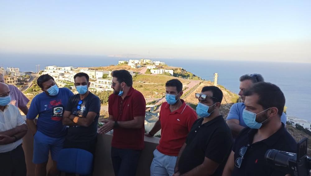 Στο Αμμούδι ο Μενέλαος Μποκέας -  Με μέλη της Δημοτικής Αρχής