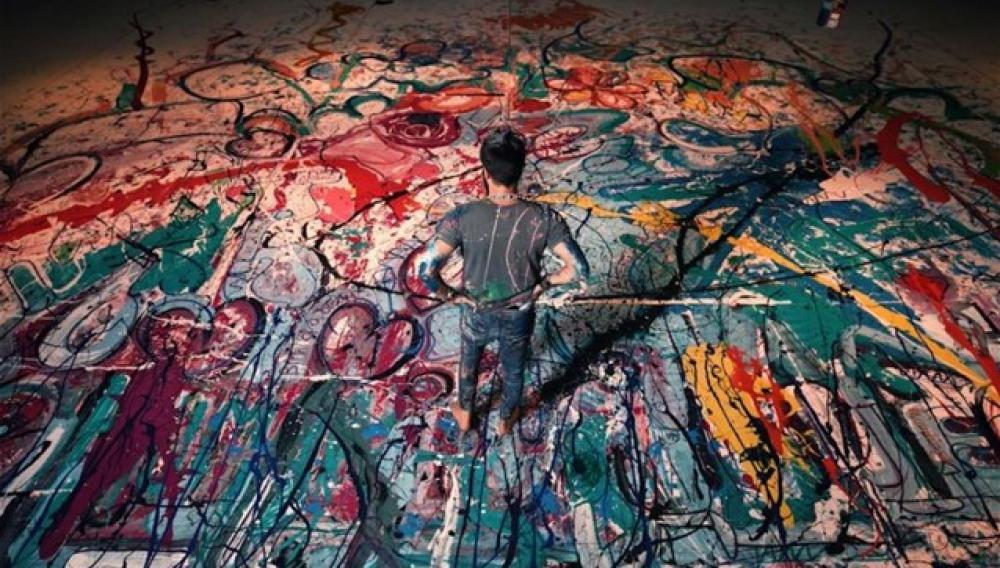 Ο μεγαλύτερος πίνακας στον κόσμο γεννήθηκε στο lockdown