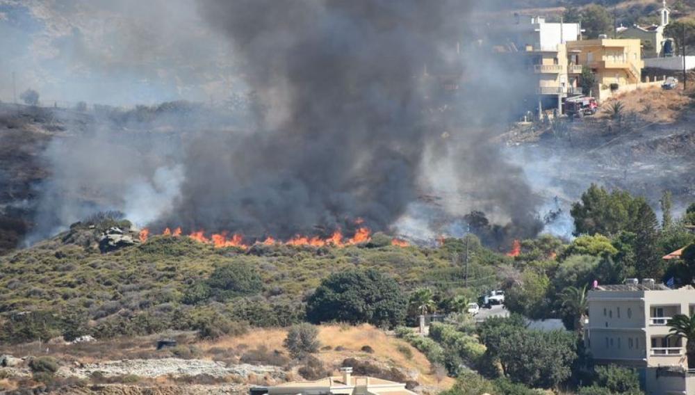 Ηράκλειο: Δύο ηλικιωμένοι στο Αυτόφωρο για τη φωτιά στην Αγία Πελαγία