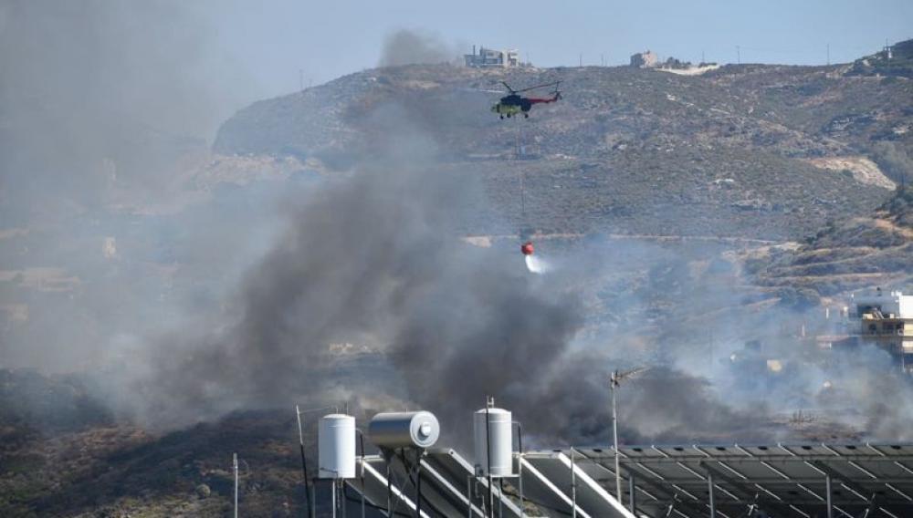Ηράκλειο: «Καμπάνα» σε δύο για τη φωτιά στην Αγία Πελαγία