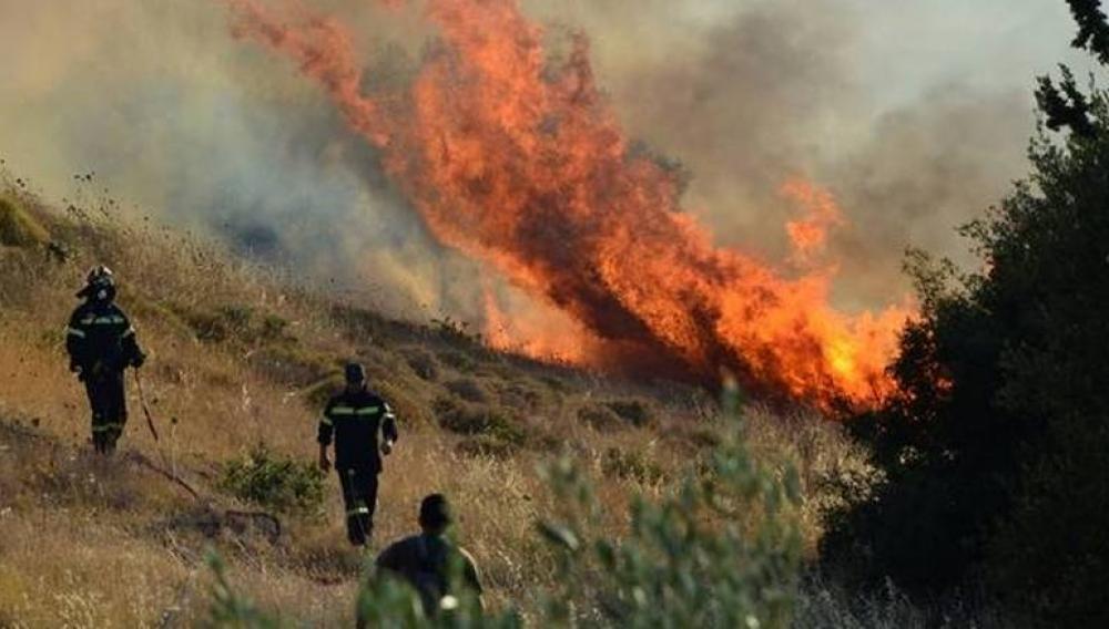 Πυρκαγιά σε εξέλιξη σε περιοχές της Κύπρου