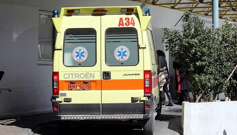 Στο νοσοκομειο μετά από το τροχαίο σε δρόμο του Ηρακλείου!