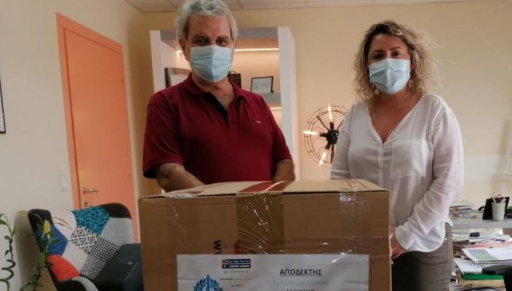 Δωρεα χειρουργικών μασκών σε νοσοκομεία του Ηρακλείου