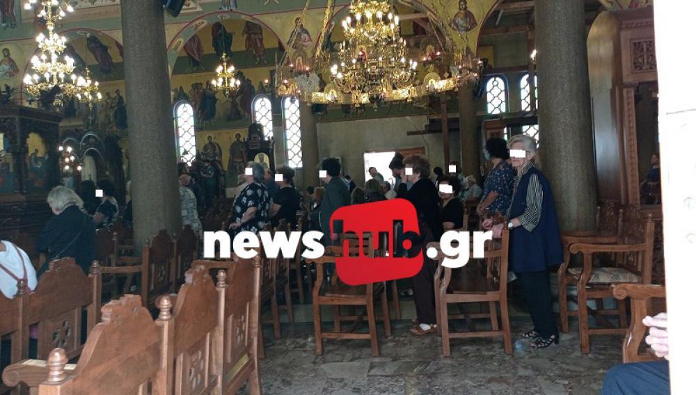 Ηράκλειο: Συνωστισμός και κανένα μέτρο προστασίας σε εκκλησία (φωτογραφίες)