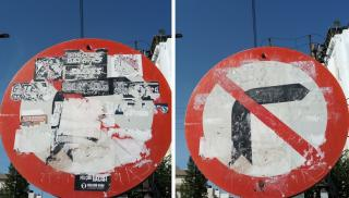 Ηράκλειο: Εκαναν τις πινακίδες να... φανούν ξανά! (φωτογραφιες)