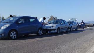 Ηράκλειο: Καραμπόλα αυτοκινήτων στο ΒΟΑΚ (φωτογραφίες)
