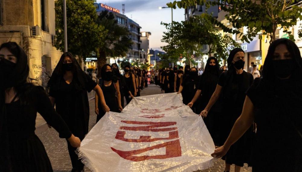 Εστειλαν το μήνυμα τους οι  Αντιφασίστριες Ηρακλείου στο πλαίσιο της πανευρωπαϊκής καμπάνιας ΔΕΝ ΕΙΝΑΙ ΑΘΩΟΙ
