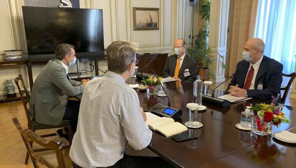 Συνάντηση Κυριάκου Μητσοτάκη με τον CEO της φαρμακευτικής Boehringer