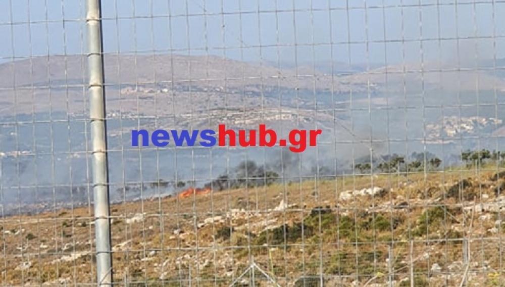 H φωτιά στον Πατσίδερο έκαψε 40 στρέμματα γης