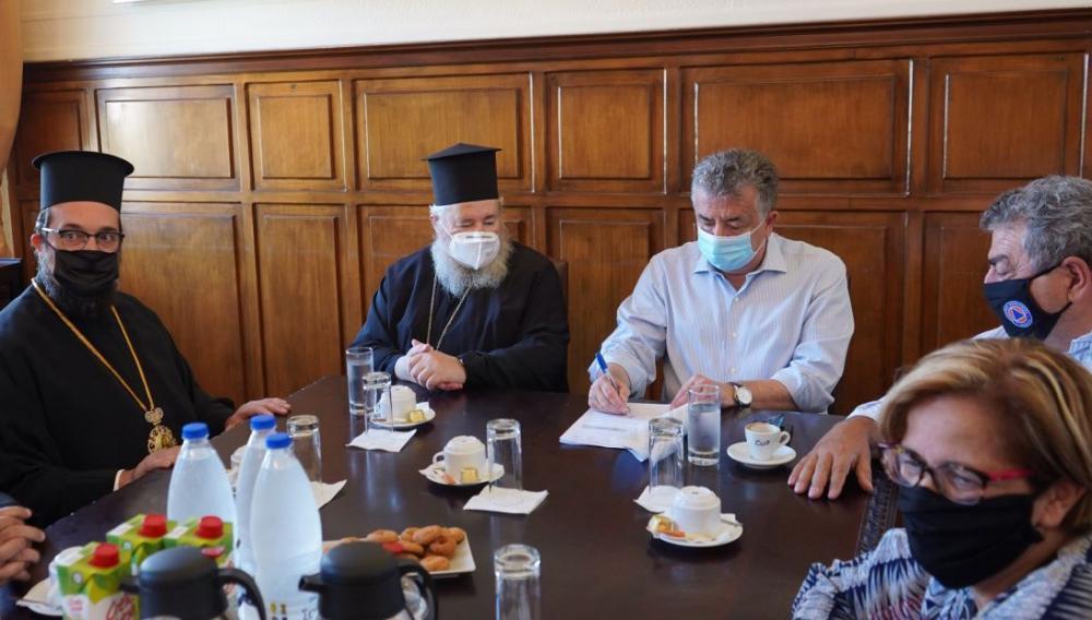 Υπογράφηκε η αποκατάσταση  του Ηγουμενείου της Ιεράς Μονής της Αγίας Τριάδος Τζαγκαρόλων