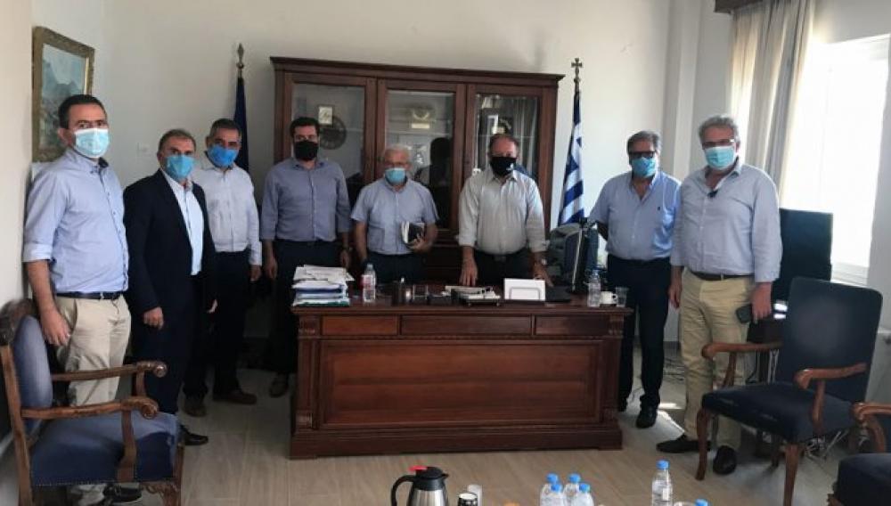 Συνάντηση των 4 Δημάρχων του Λασιθίου στην αντιπεριφέρεια για τις εξελίξεις στον ΒΟΑΚ