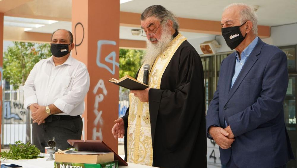 Ο Δήμαρχος Ηρακλείου Βασίλης Λαμπρινός στον Αγιασμό της νέας σχολικής χρονιάς