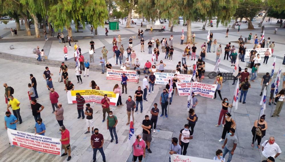 Ηράκλειο: Πορεία για τη δολοφονία του Φύσσα (φωτογραφίες)