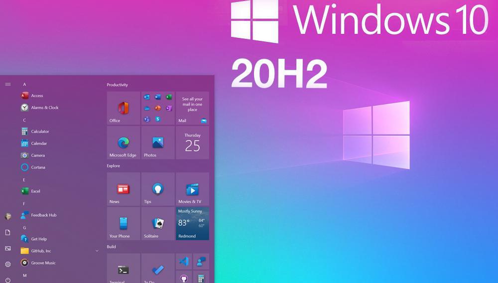Windows 10: Επίσημα το October Update 2020 με το νέο Start Menu