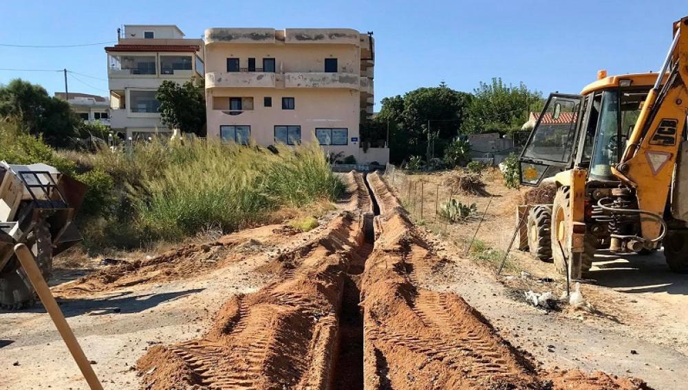 Αντικατάσταση δικτύου ύδρευσης στην Αμμουδάρα