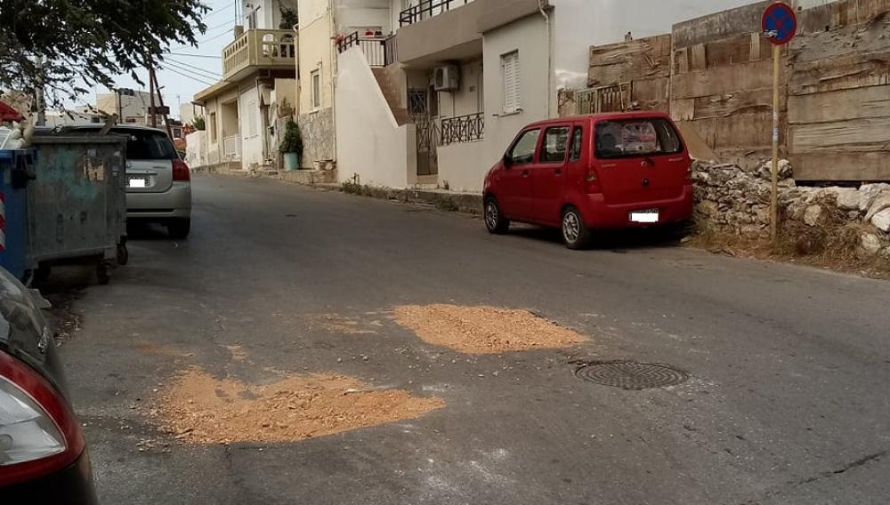 Ηρακλειο: Αμεση παρέμβαση στο οδόστρωμα