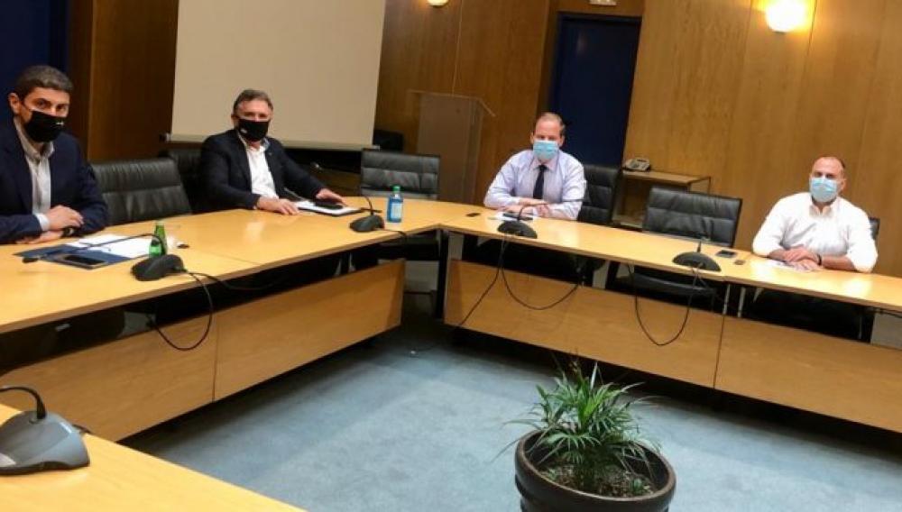 Συνάντηση Φραγκάκη με τον Υπουργό Υποδομών για το Νέο Αεροδρόμιο